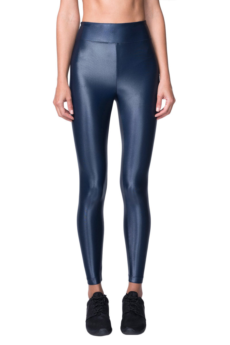 Lustrous High Rise Leggings - Midnight Blue