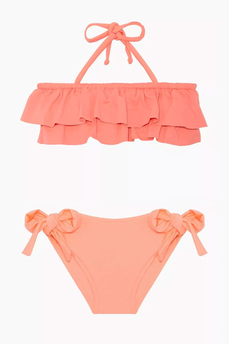 Kerri Bandeau Bikini Set (Kids) - Peach
