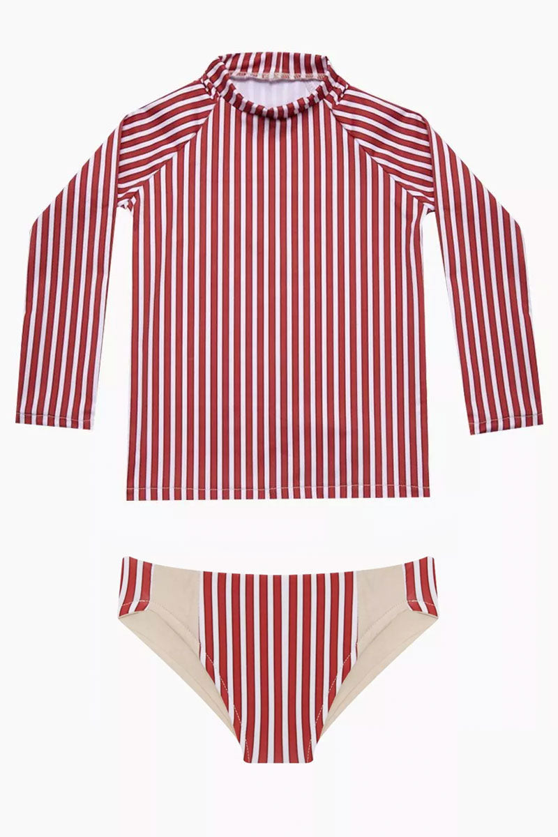 Rasha Bikini Set (Kids) - Red Stripes