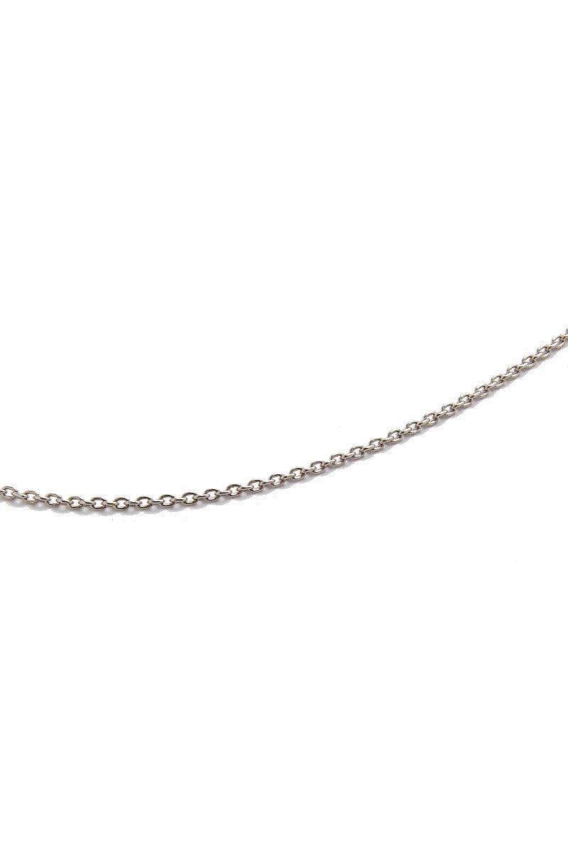 MIRA Hooped Short Chain Necklace Accessories | Silver| MIRA Hooped Short Chain Necklace