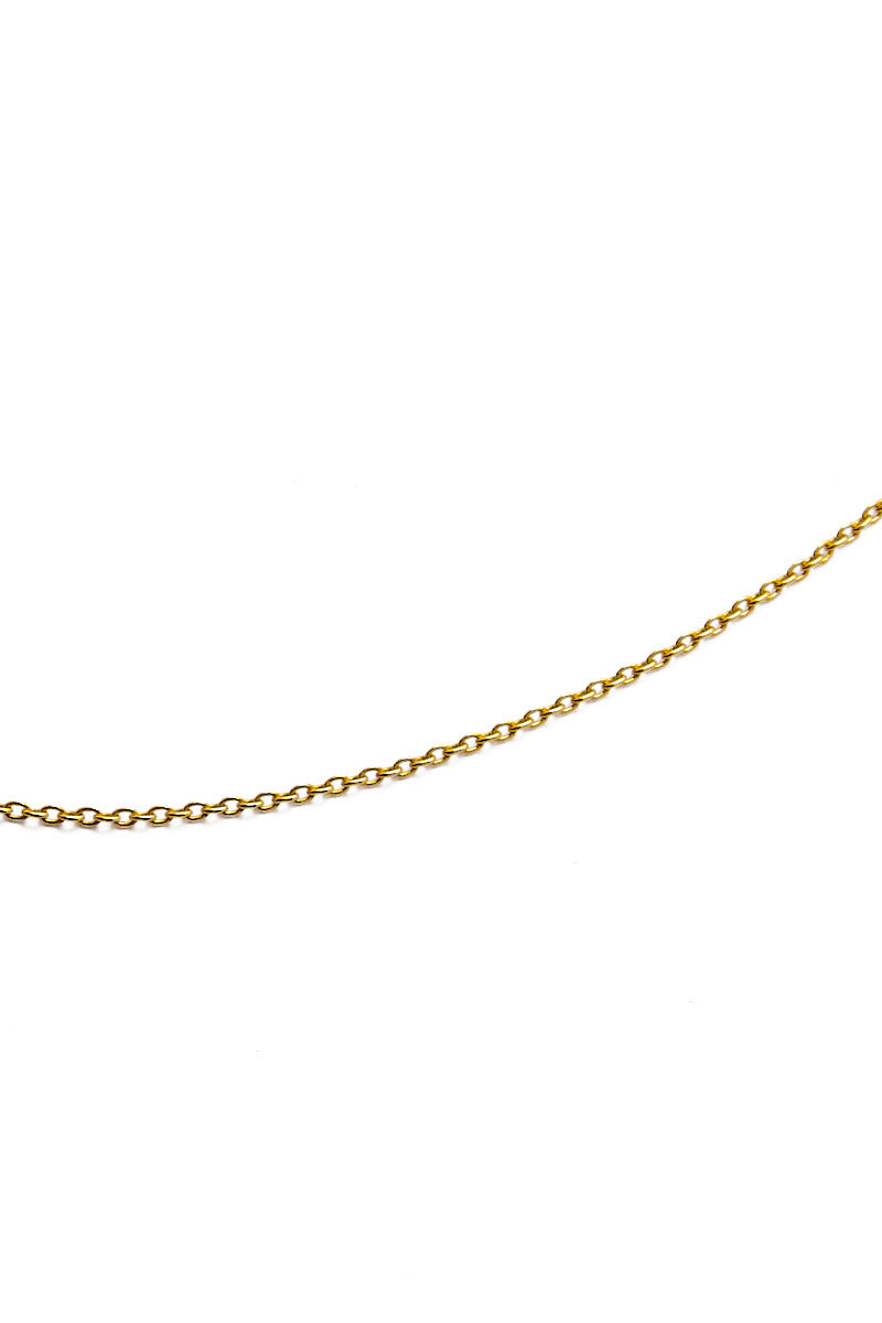 MIRA Hooped Short Chain Necklace Accessories | Yellow Gold| MIRA Hooped Short Chain Necklace