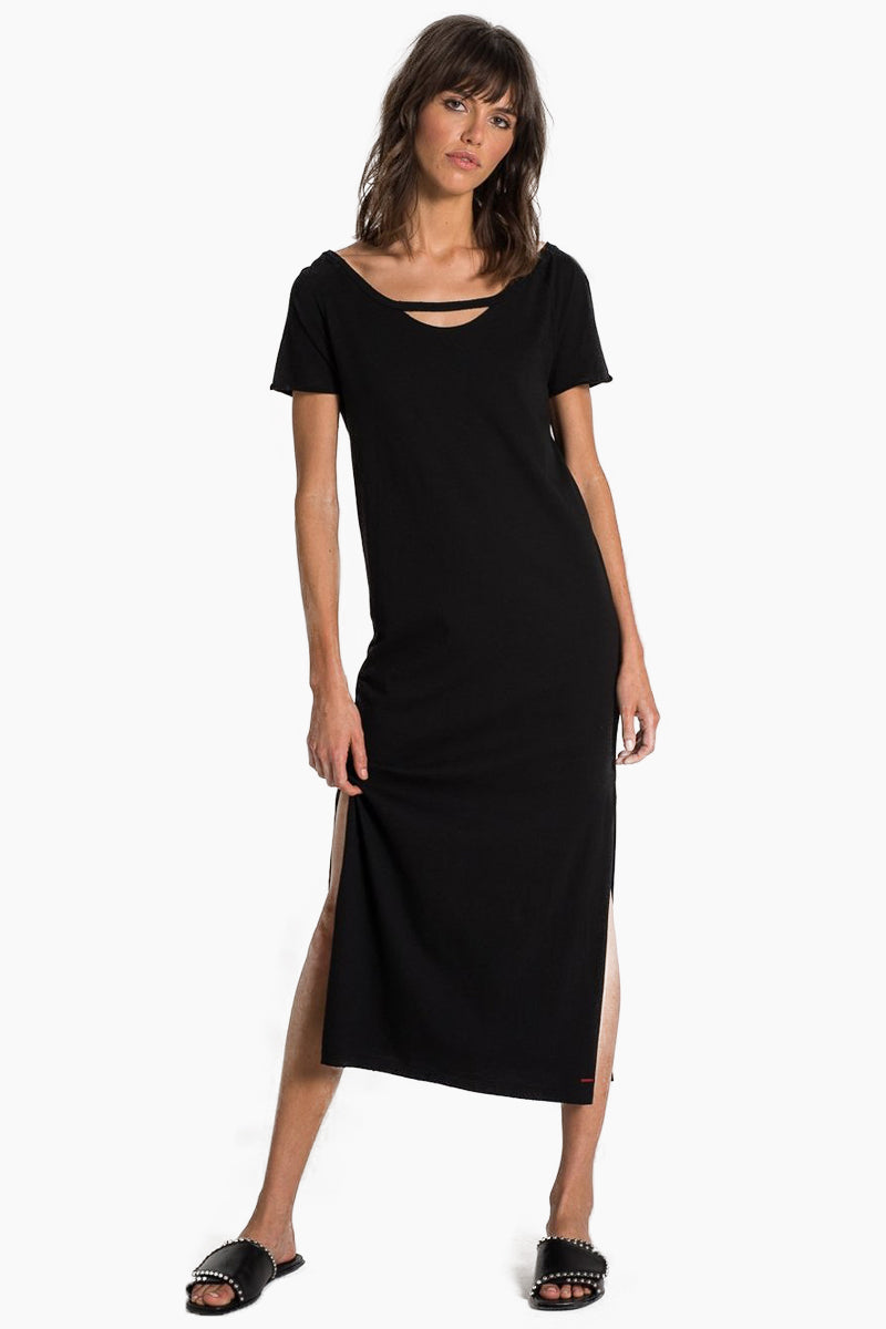 Mandalay Short Sleeve Maxi Dress - Black Cat