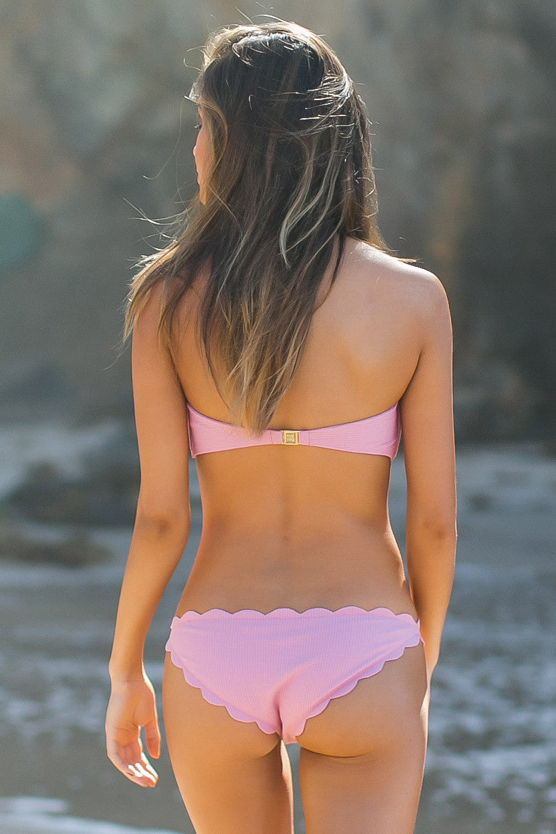 MARYSIA Peony Pink Antibes Scallop Bottom Bikini Bottom | Peony Pink|Jocelyn