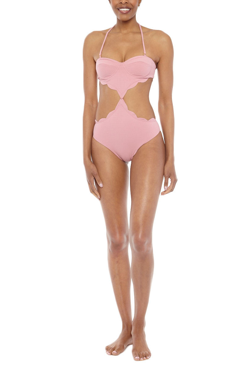 ece3e294bc ... MARYSIA Lafayette Cut-Out Monokini One Piece Swimsuit - Peony Pink - undefined  undefined