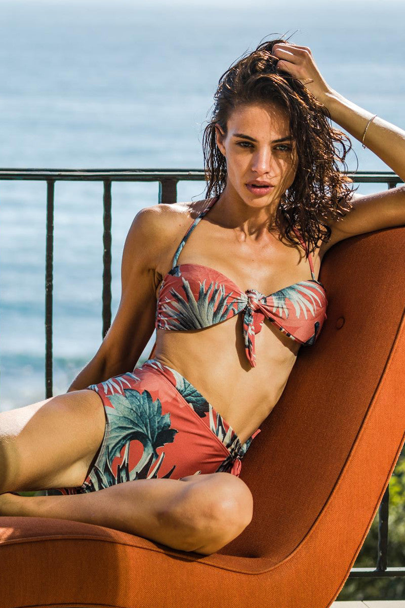ADRIANA DEGREAS Maxi Flower Top Bikini Top | Antique Coral| Adriana Degreas Maxi Flower Bikini Top