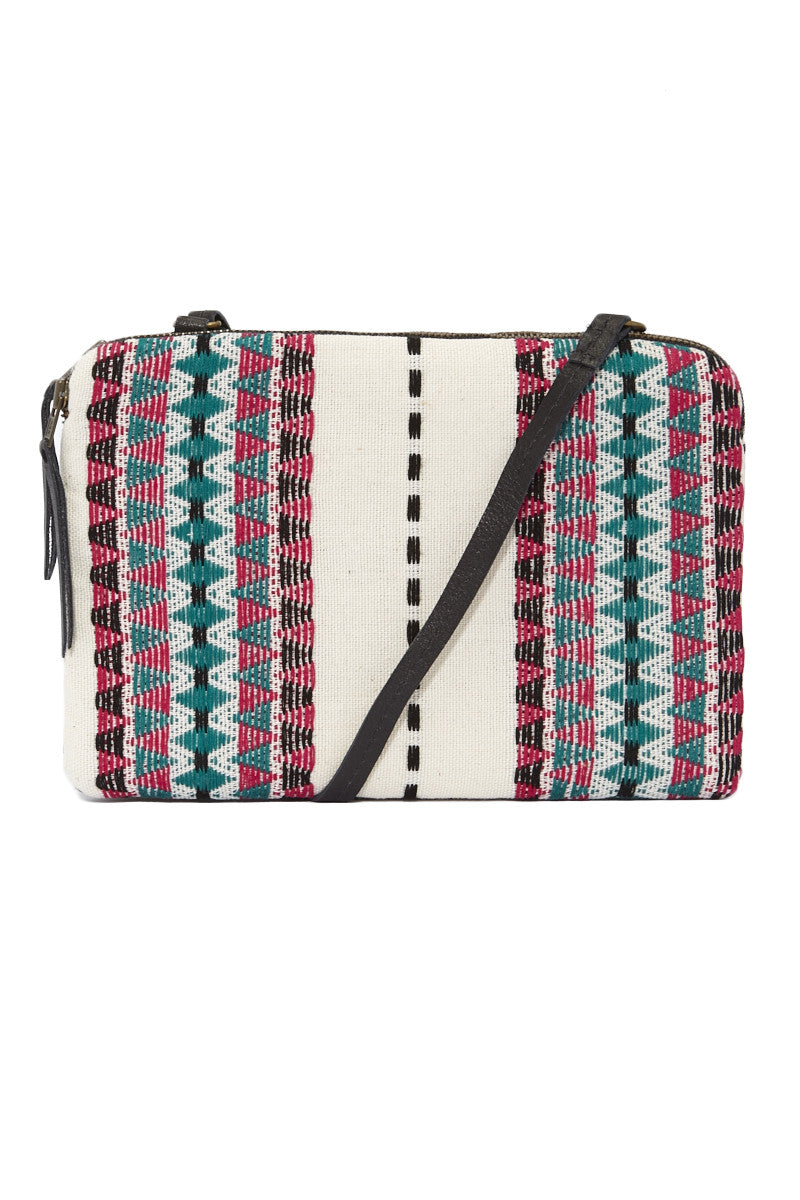Mercado Global Andrea Crossbody Bag Tote | Passionflower| Mercado Global Andrea Crossbody