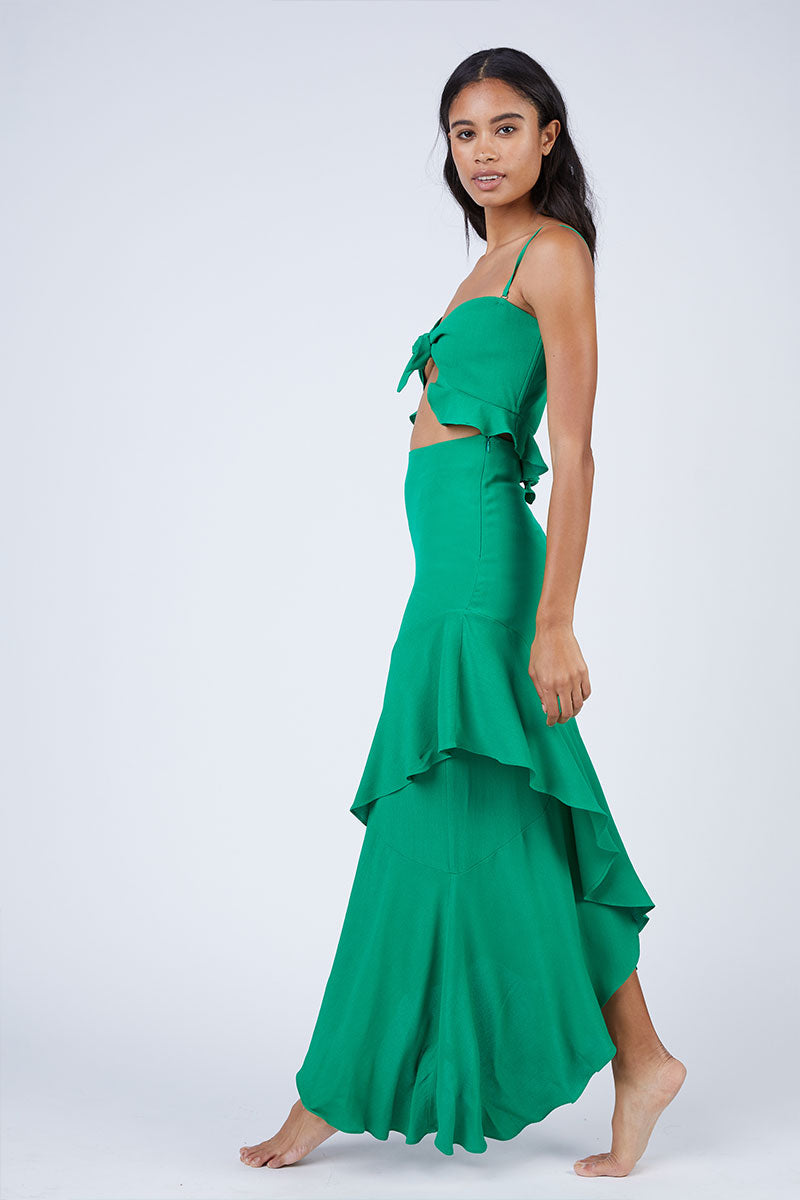 abf6a69ff5d ... FLYNN SKYE Michelle Cut Out Knot Front Maxi Dress - Jolly Green -  undefined undefined