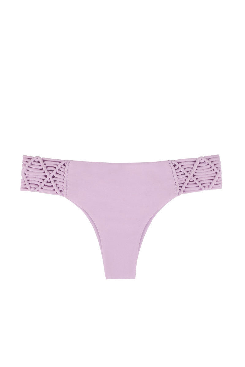 Cayman Macrame Brazilian Bikini Bottom - Taro Purple