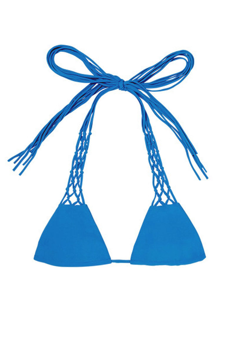 Coconuts Adjustable Side String Bikini Top - Tahiti Blue