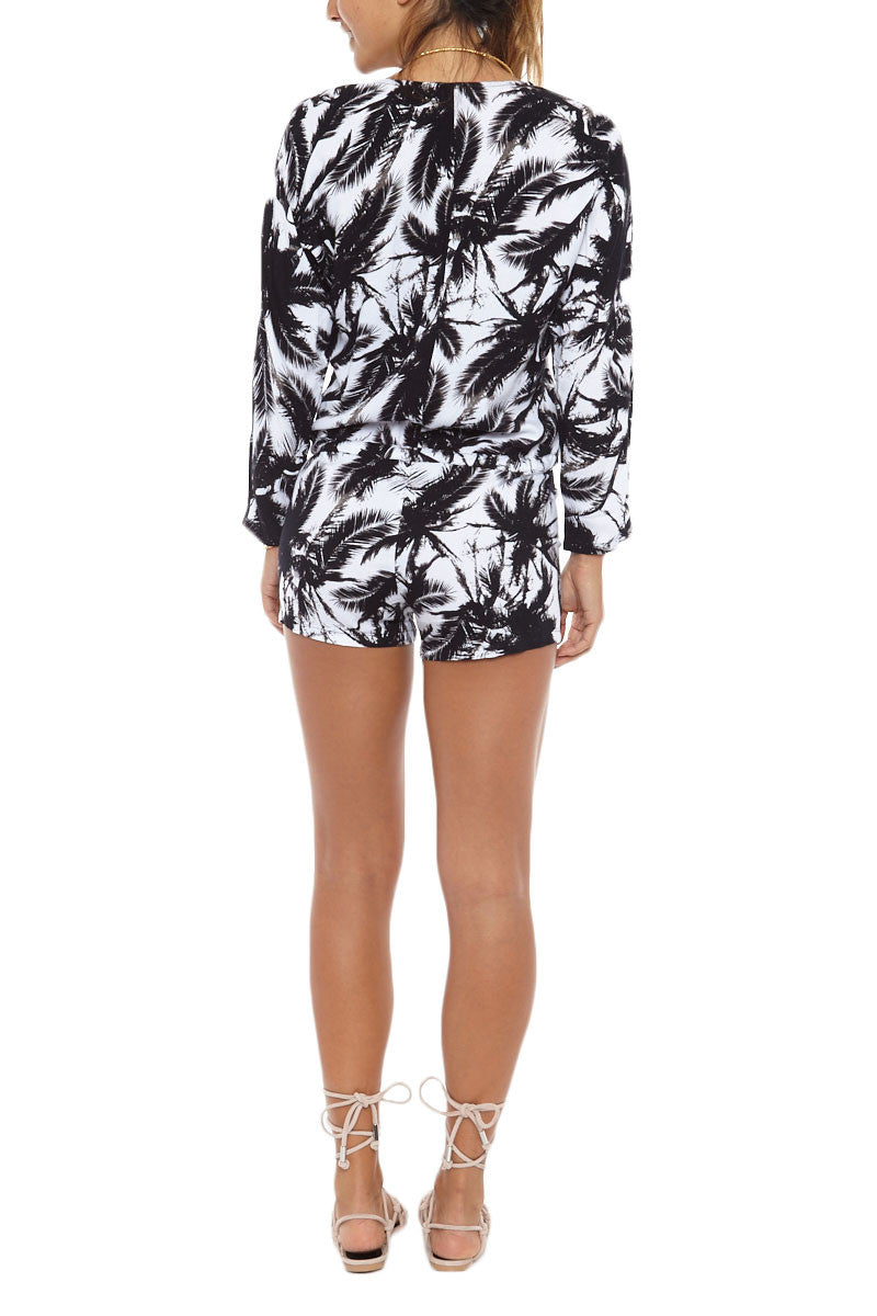 MIKOH Hawaii Romper Cover Up | Polynesian Palm| Mikoh Hawaii Romper