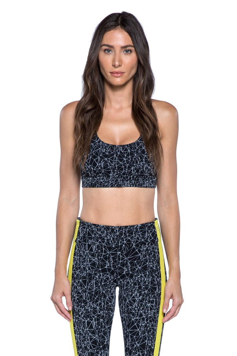 Fame Criss-Cross Sports Bra - Molecular Black