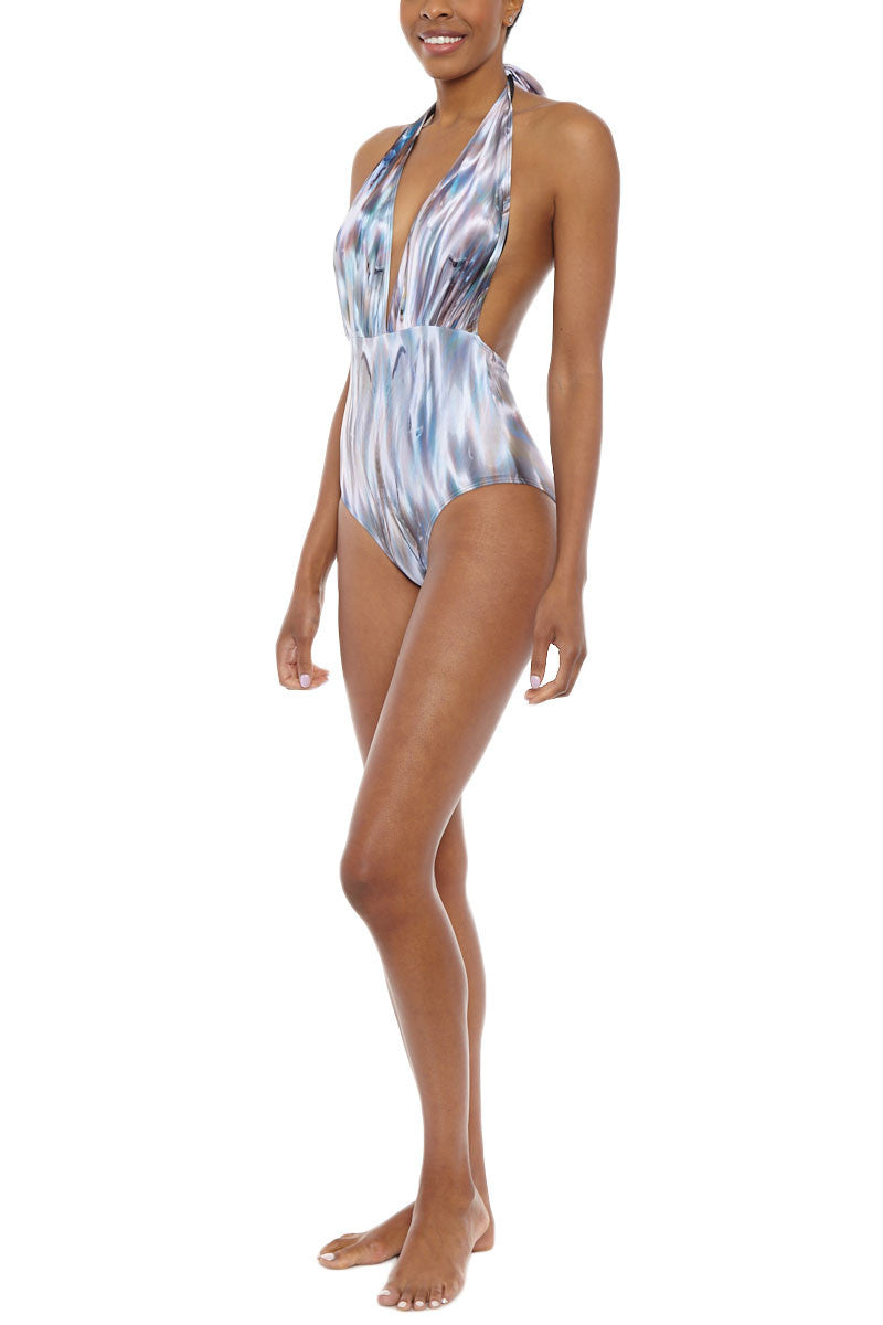 MONA SWIMS Marilyn One Piece One Piece | Shell| MONA SWIM Marilyn One Piece