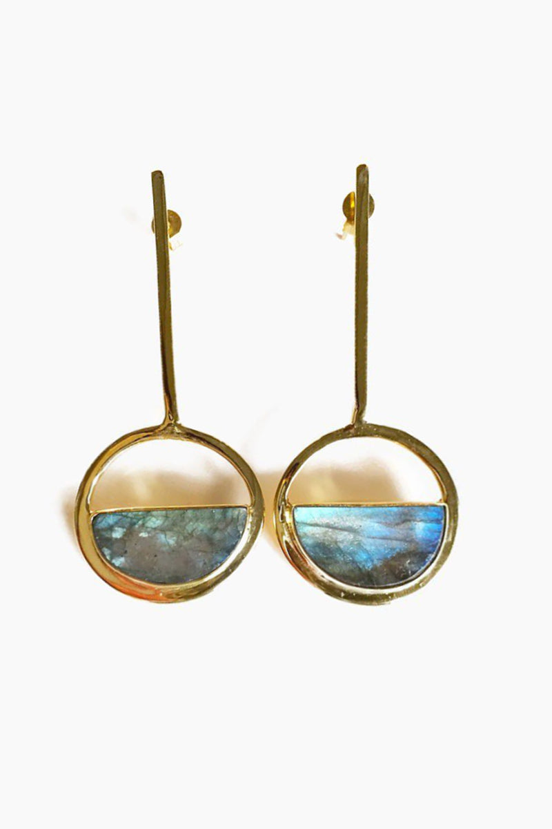 Moon Gazer Drop Earrings - Labradorite