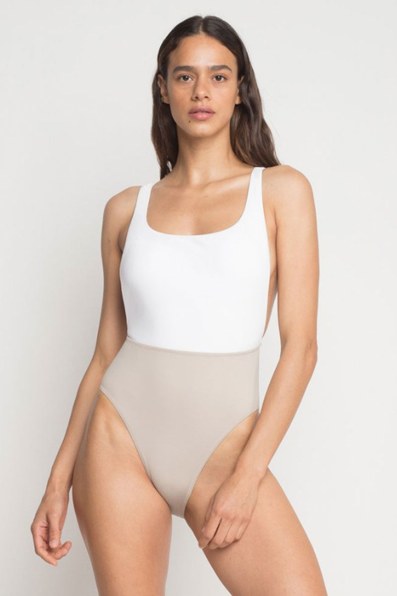 51cc1af26b962 ... KORE Nyx Maillot Color Blocked One Piece Swimsuit - Stone White -  undefined undefined