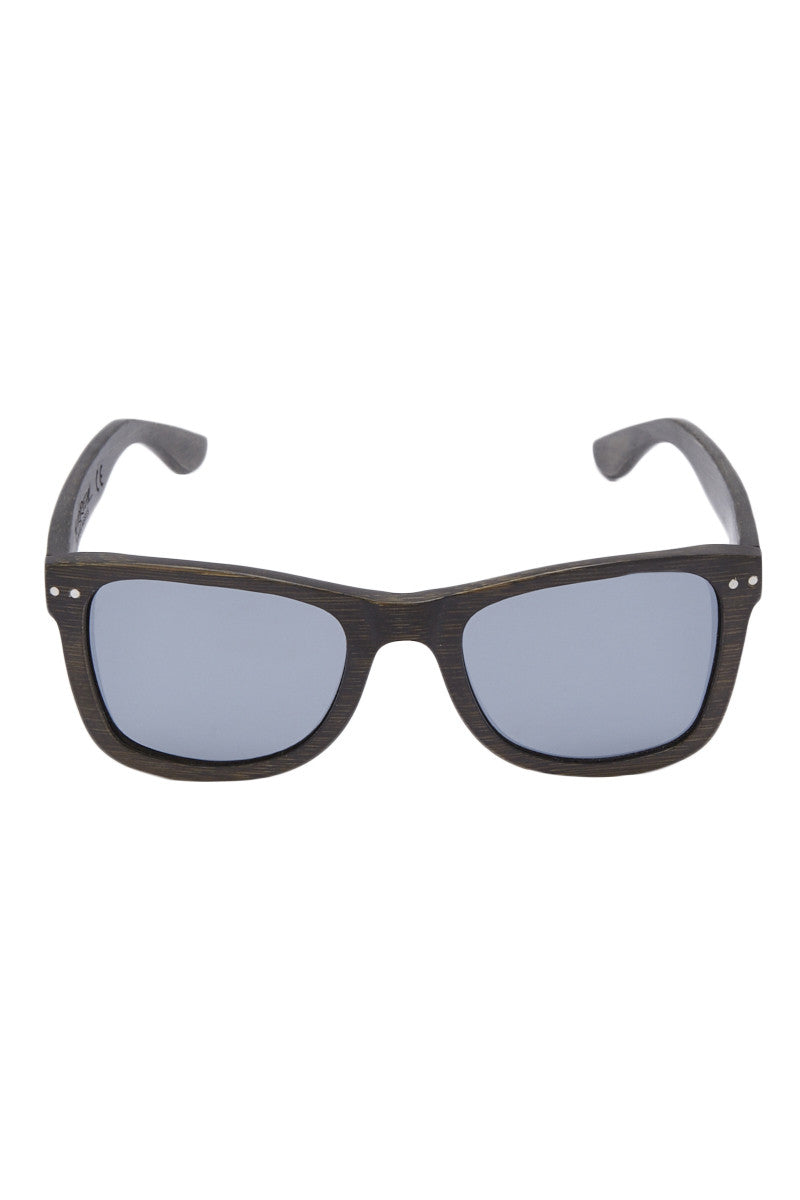 Floating Full Bamboo Sunglasses - Charcoal Black/Gray