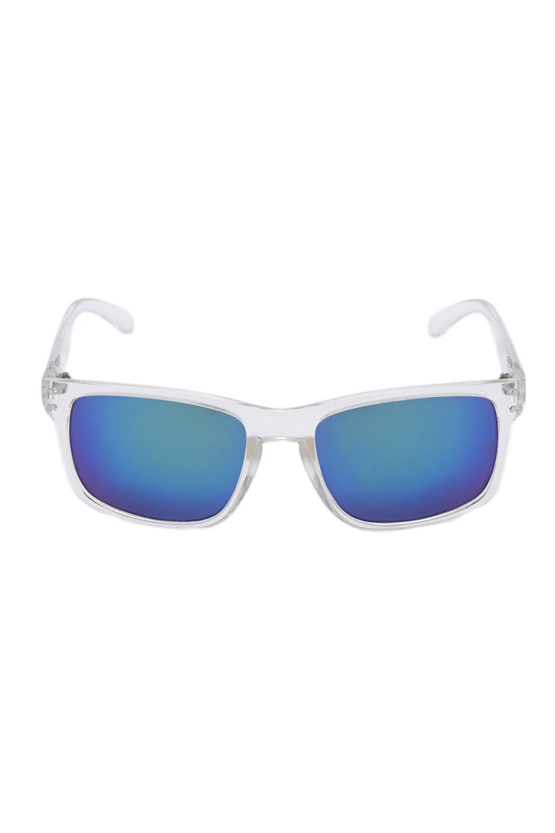 Premium Classic Sunglasses - Clear/Blue