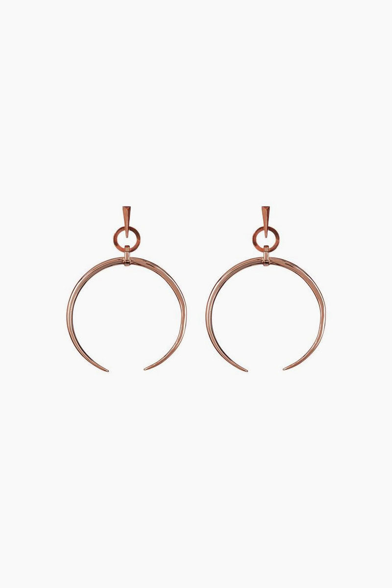 Oversized Crescent Hoops - Rose Gold