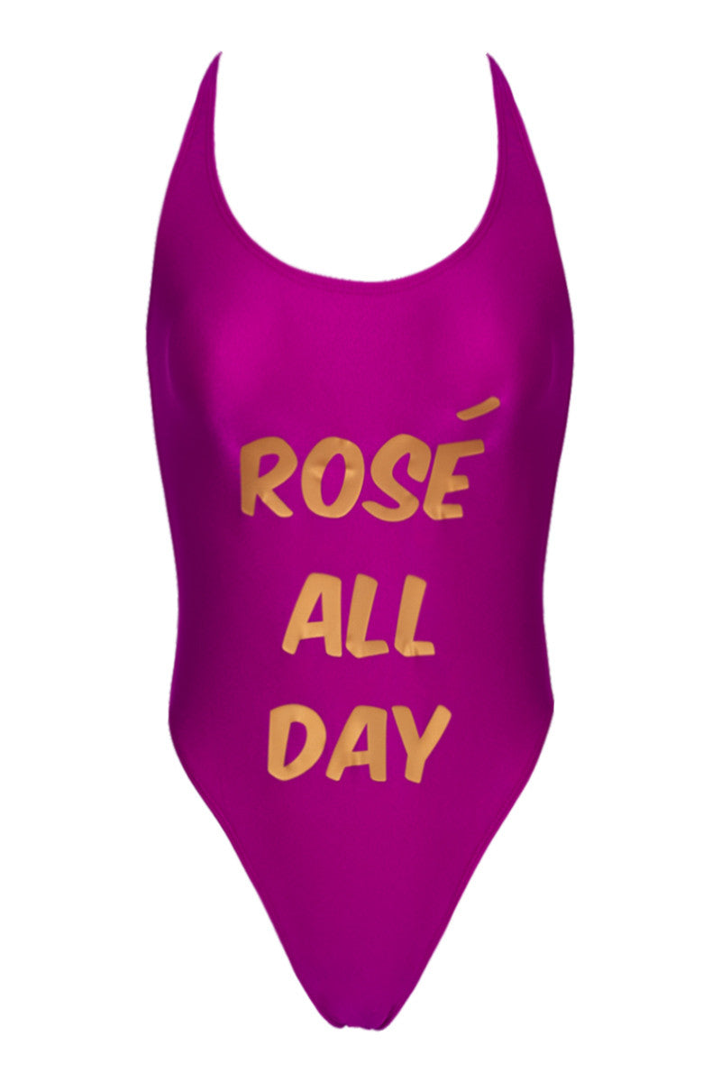 PRIVATE PARTY Rosé All Day One Piece one piece | pink and gold| private party rose all day