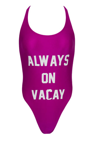 PRIVATE PARTY Always On Vacay One Piece one piece | Purple and White| private party always on vacay