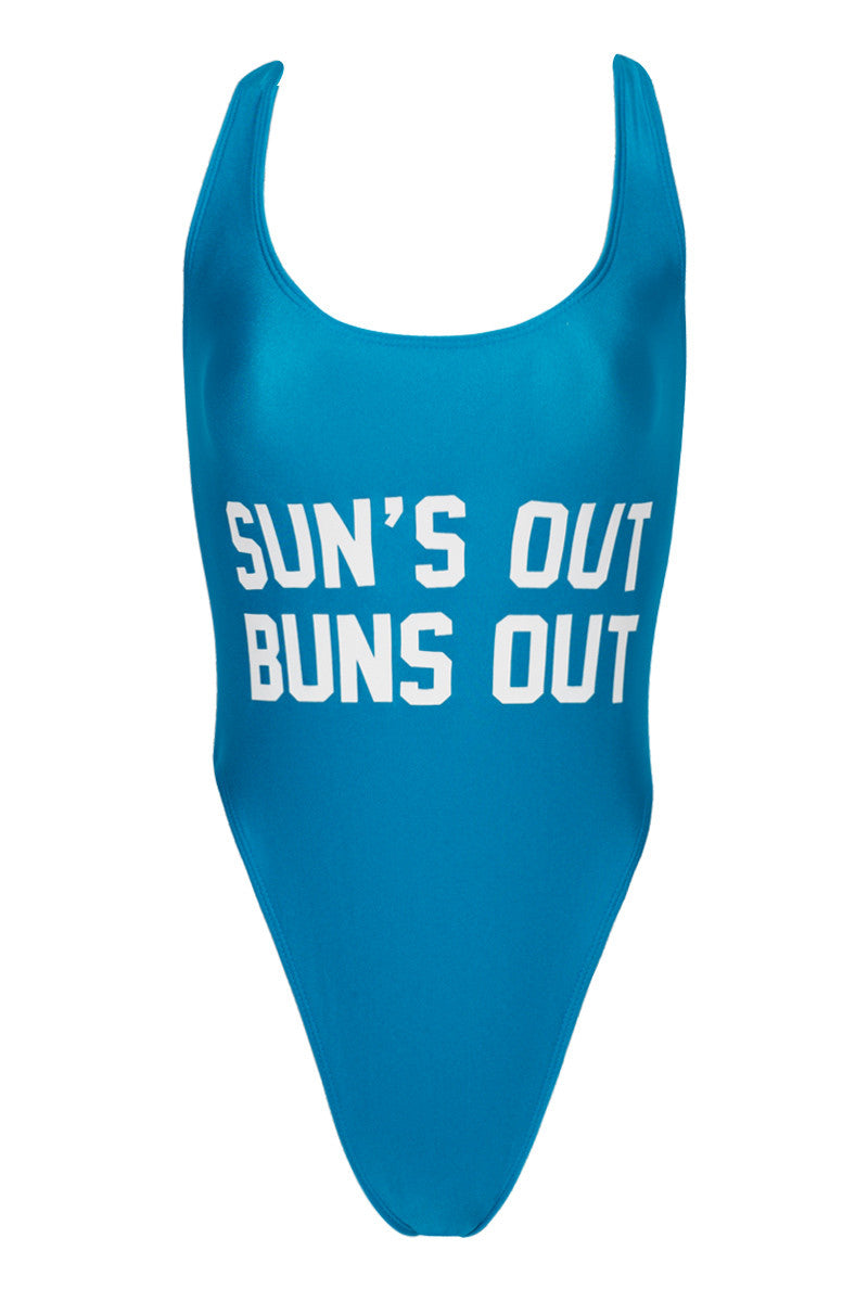 PRIVATE PARTY Sun's Out Buns Out One Piece one piece   Buns out Blue  private party suns out buns out