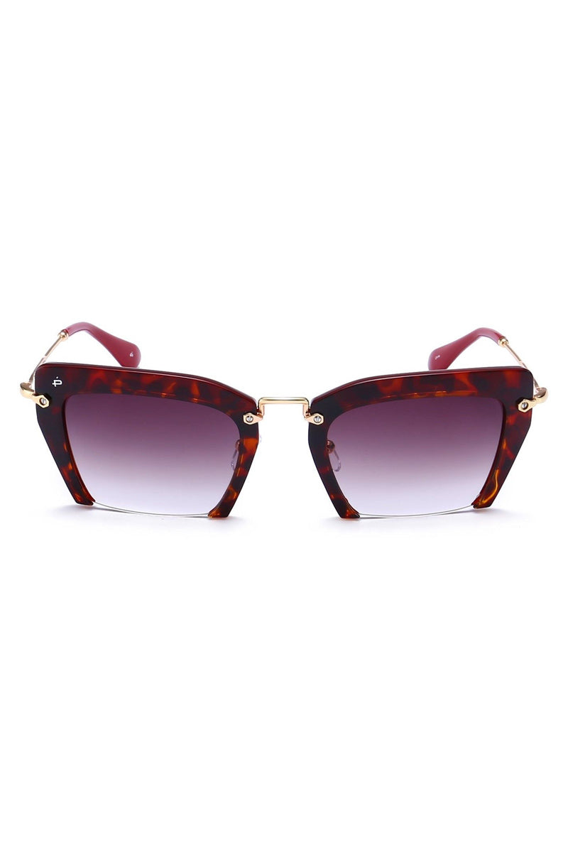The Socialite Cut Off Cat-Eye Sunglasses - Tortoise