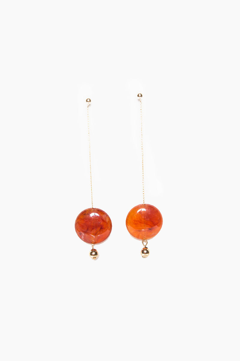 Pendulum Duster Earrings - Gold Amber