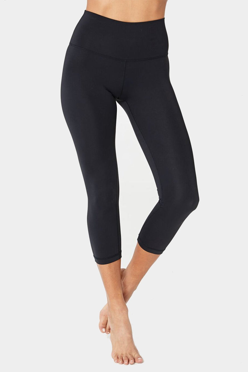 Perfect High Waisted Crop Leggings - Black