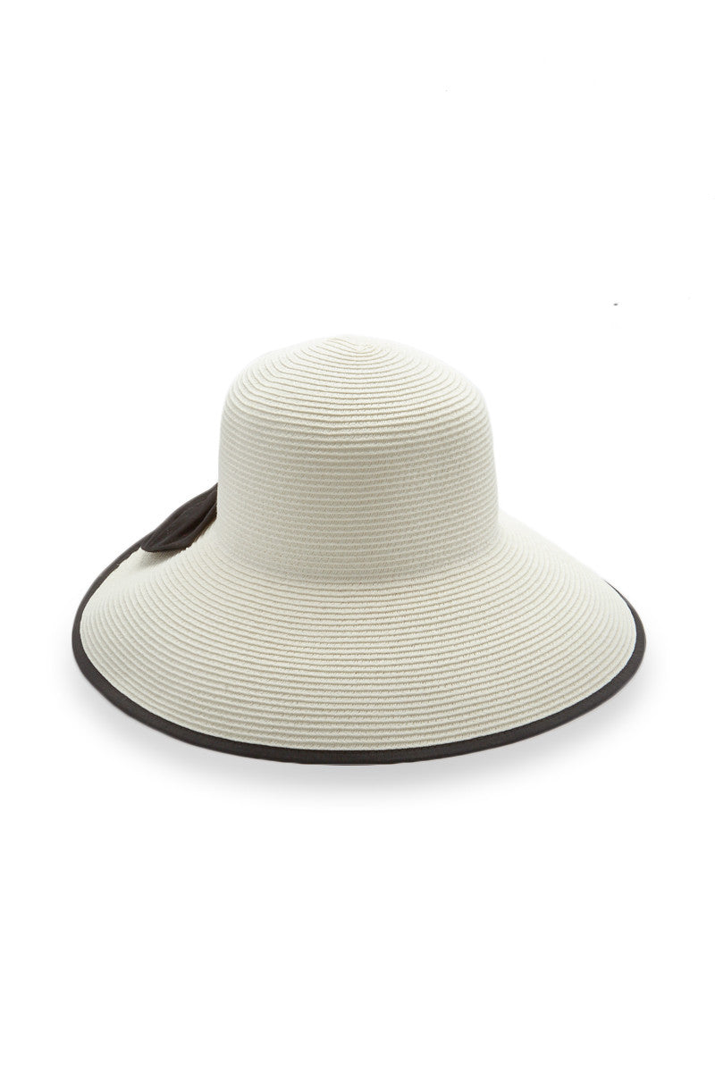 PIA ROSSINI Carolina Hat Hat | White/Black| Pia Rossini Carolina Hat