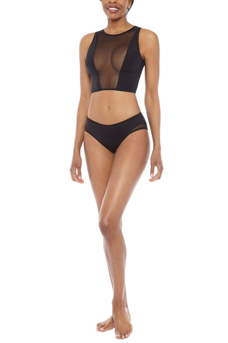 PIXIE WON'T PLAY Swim Top bikini top | Black| Pixie Wont Play Bikini Swim Top