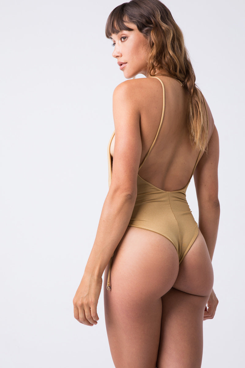 e06c83fbd8 ... INDAH Playground Cinched Tie Side One Piece Swimsuit - Cairo Gold - undefined  undefined