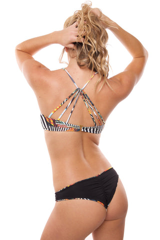POEMA SWIM Printed Samoa Top Bikini Top | Geometric|