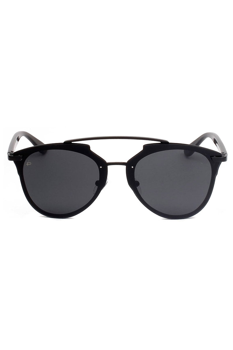The Benz Unisex Aviator Sunglasses - Black