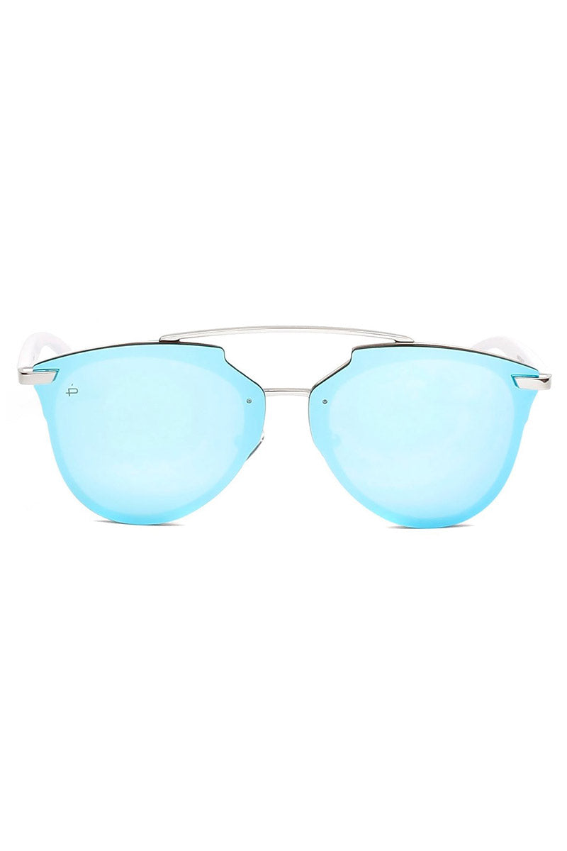 The Benz Unisex Aviator Sunglasses - Blue
