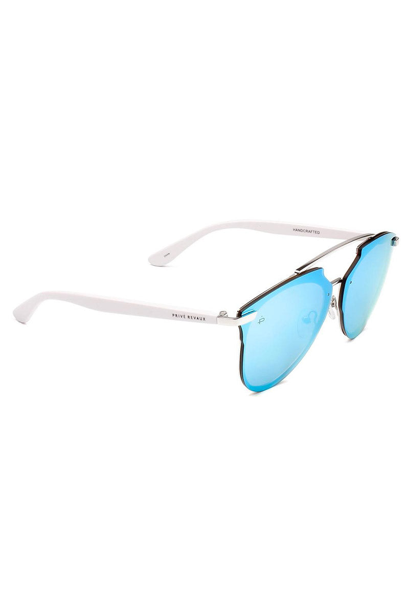 6e1b49ace447 ... PRIVE REVAUX The Benz Unisex Aviator Sunglasses - Blue - undefined  undefined