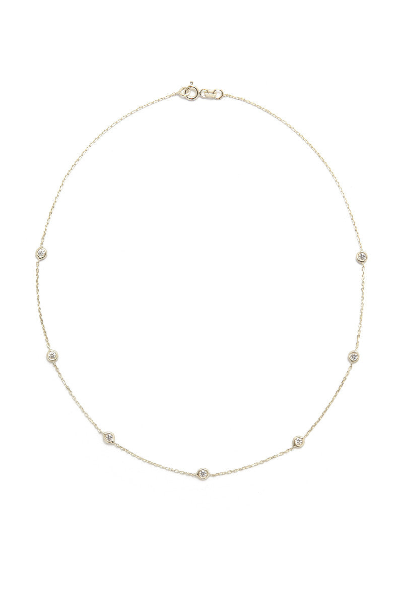 Quinn Chain Choker - Gold & Clear