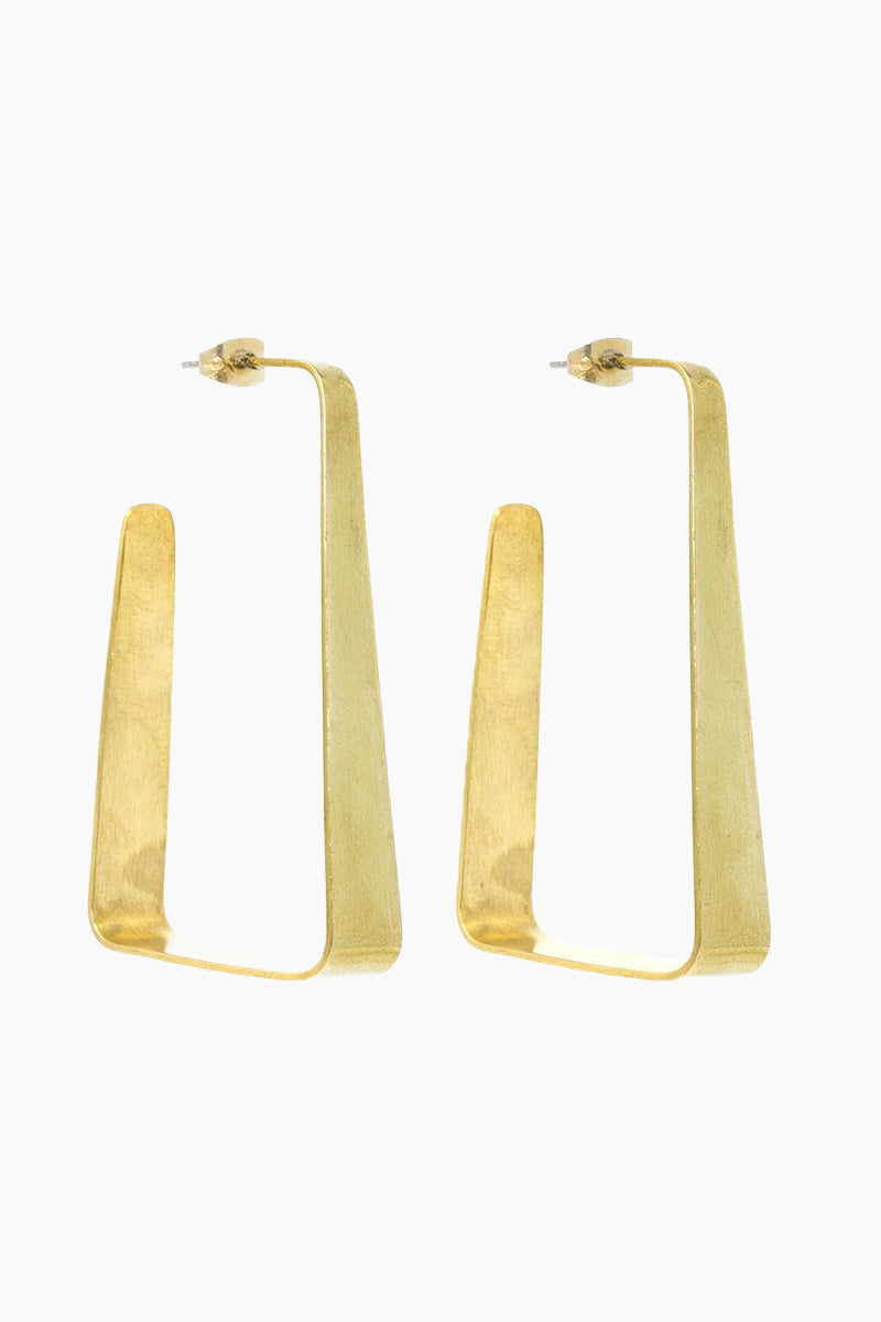 Raba Hoop Earrings - Brass