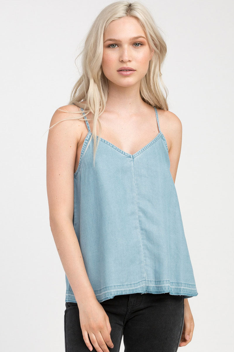 Raided Tank Top - Chambray Blue