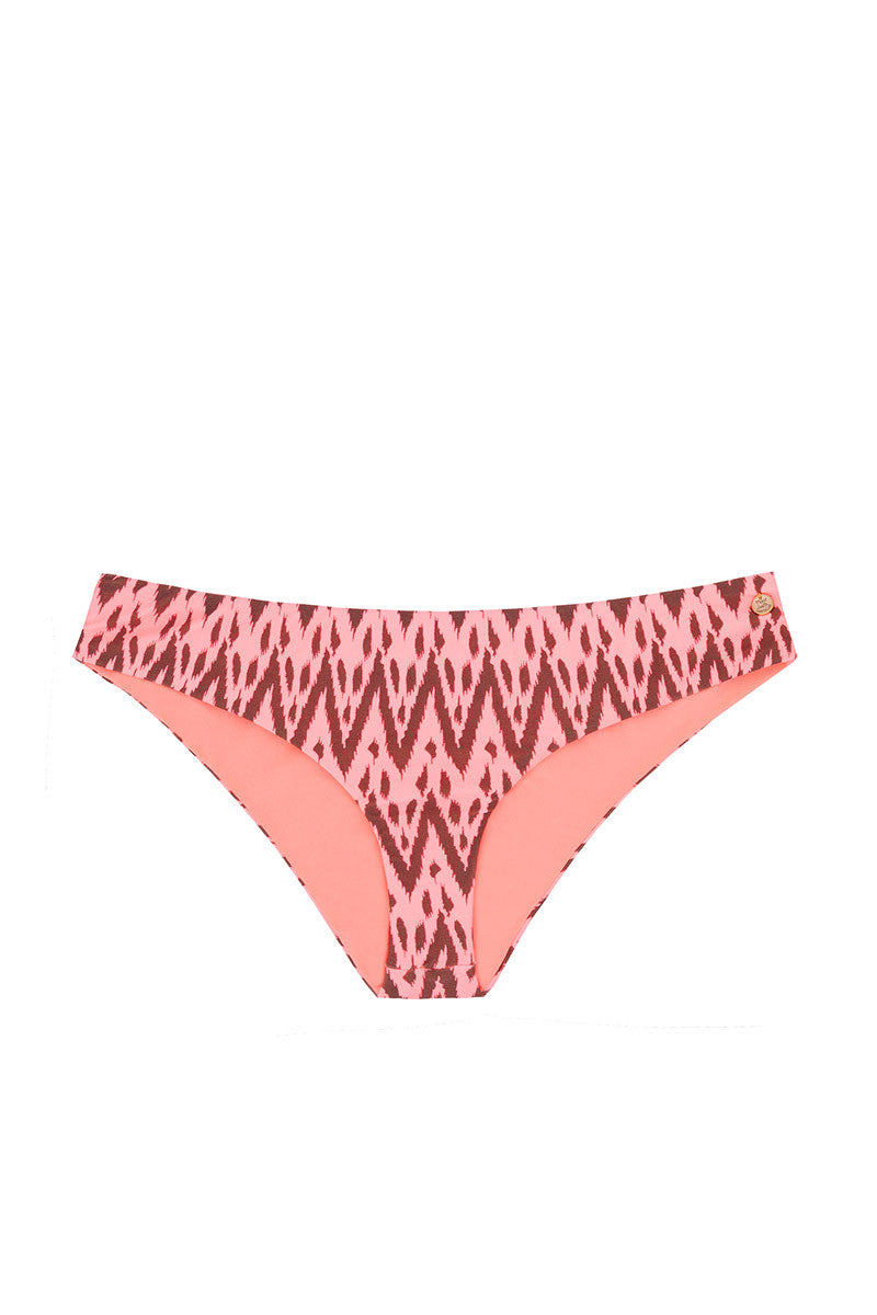 California Hipster Full Bikini Bottom - Radio Pink Waves Print