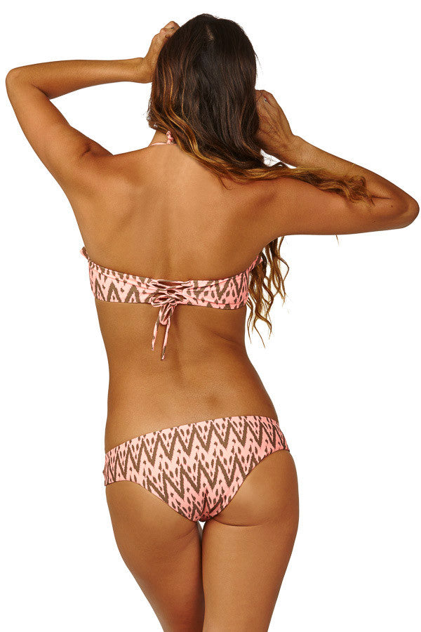 RAISINS California Pant Bottom Bikini Top | Hot Papaya|