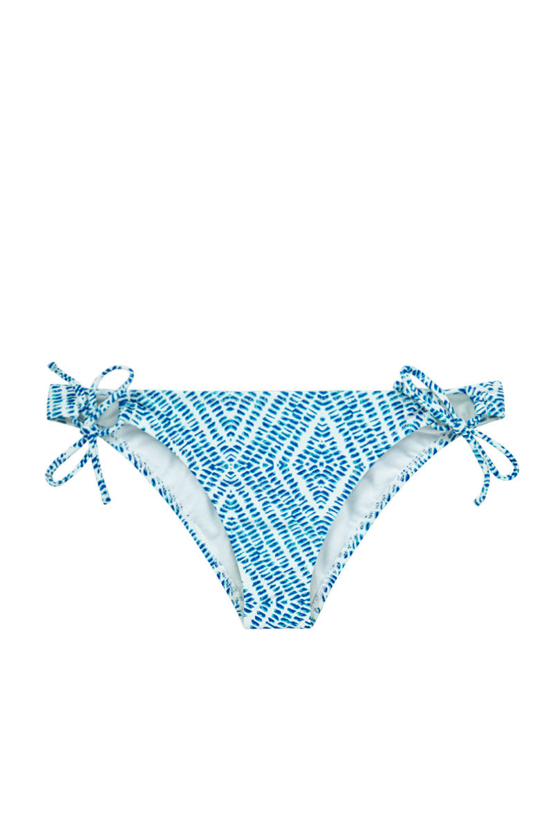 Sweet Pea Tie Side Bikini Bottom - Blue Marine Print