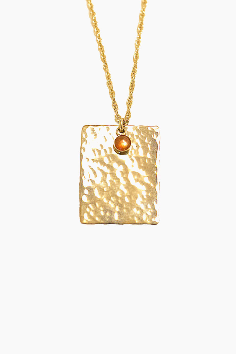 Rectangle Coin Necklace - Gold