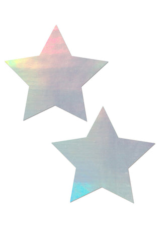 PASTEASE Rockstar Holographic Pasties Accessories | Silver|