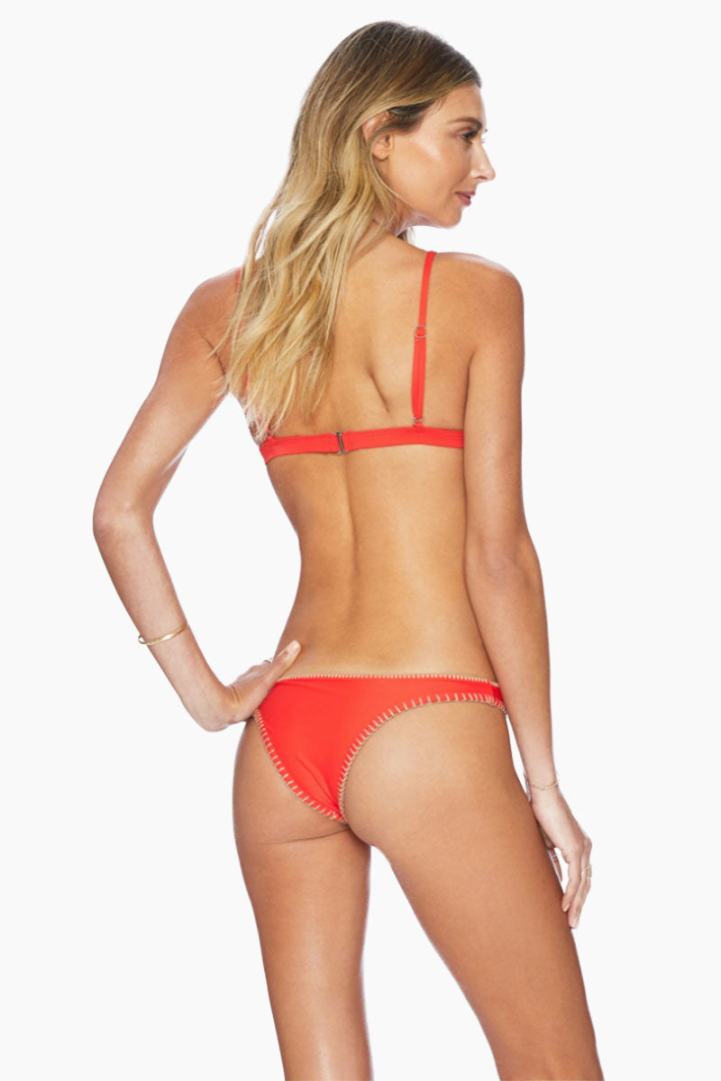 Daniela Fitted Brazilian Bikini Bottom - Red