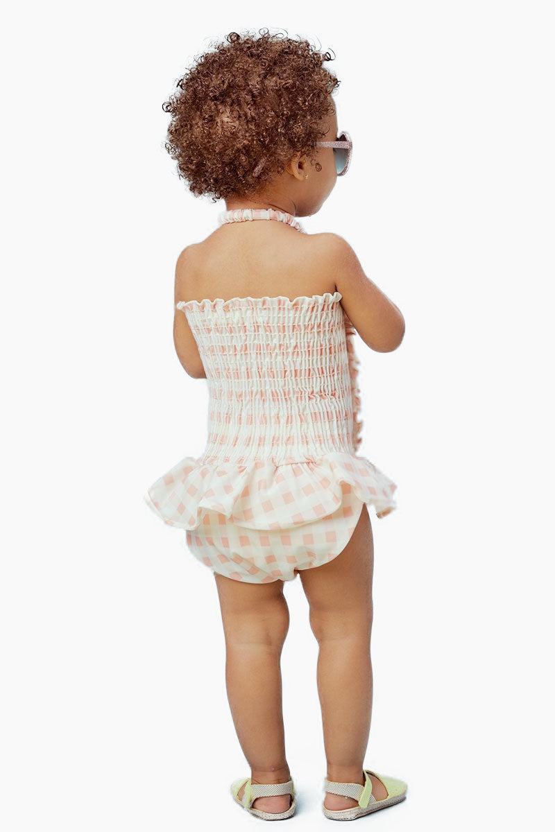 2d232665f0 ... LIL LEMONS Ruffle Swim One Piece (Kids) - Pink Gingham - undefined  undefined