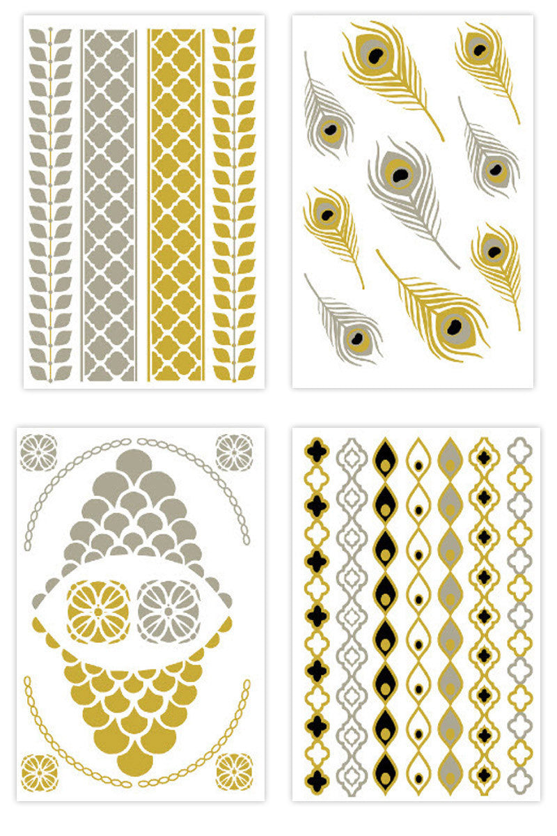 FLASH TATTOOS Sofia Set Accessories | Metallic|