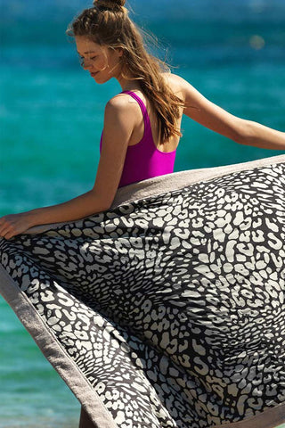 SUN OF A BEACH Sea Leopard Towel Accessories | Leopard| Sun Of A Beach Sea Leopard Beach Towel