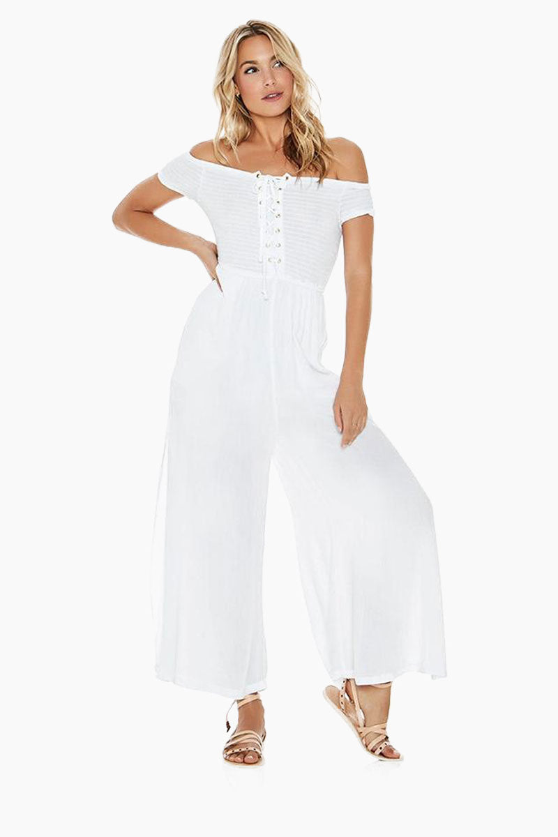 Sao Paulo Off Shoulder Jumpsuit - White