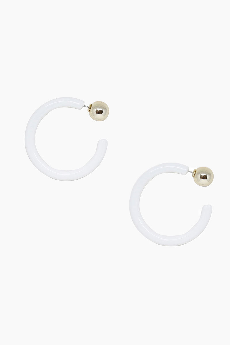 Scorpio Hoops In White And Gold Gold Scorpio Hoops 8211 White 038 Gold
