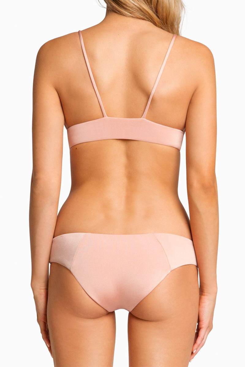Charlie Full Coverage Bikini Bottom - Blush & Bashful