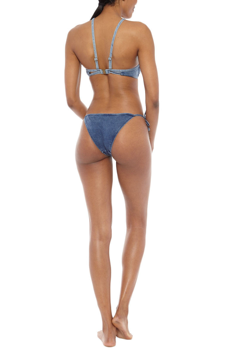 SEAFOLLY Deja Blue High Neck Top Bikini Top | Denim| Seafolly Deja Blue High Neck Bikini Top